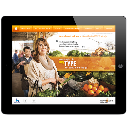 iPad apps for salespeople Novo Nordisk